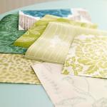 Коллаж из обоев, бумаги или ткани