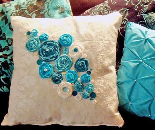 Подушки декоративные своими руками цветы