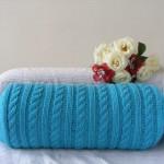 Вязаная подушка 5