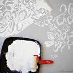 Украшение пола трафаретными рисунками 2