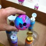 Цветная стеклянная ваза 3
