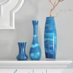 Цветная стеклянная ваза 6
