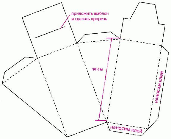 Схемы картонного торта