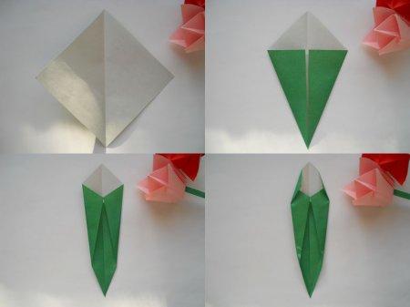 Тюльпаны из бумаги своими руками оригами схема фото 95