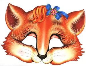Как своими руками сделать маску лисы