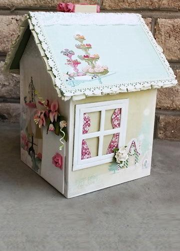 Как украсить картонный домик своими руками фото