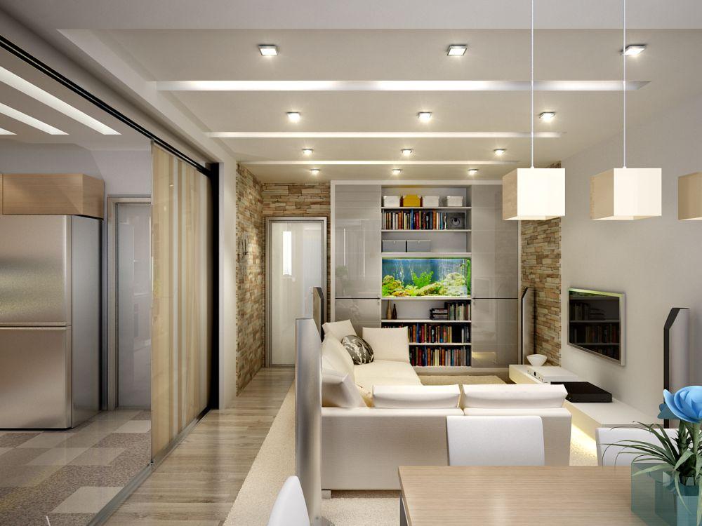 Дизайн гостиной в хрущевке: идеи интерьеров (65)