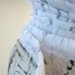 Изготовление объемного снеговика