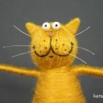 Довольный пузатый кот изготовление 13