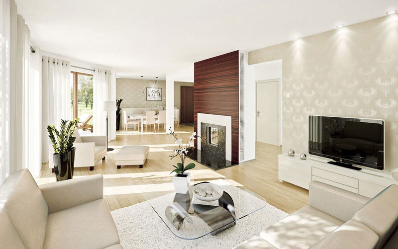 Дизайн гостиной в стиле хай тек фото
