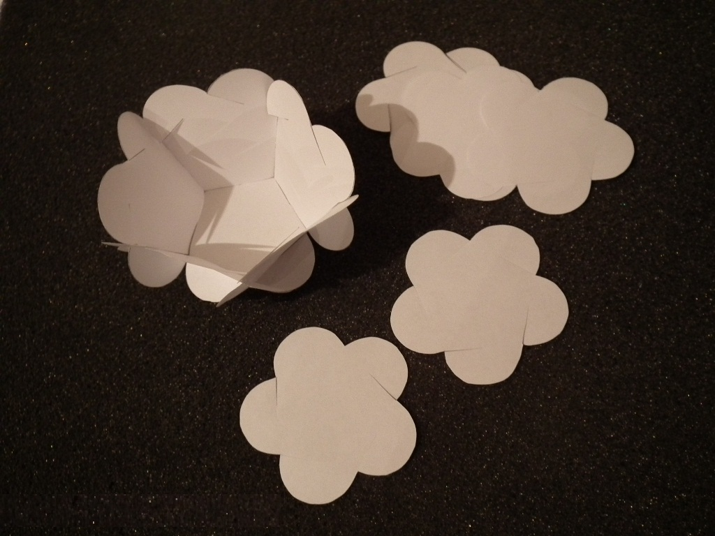Шаблоны шара на елку из бумаги