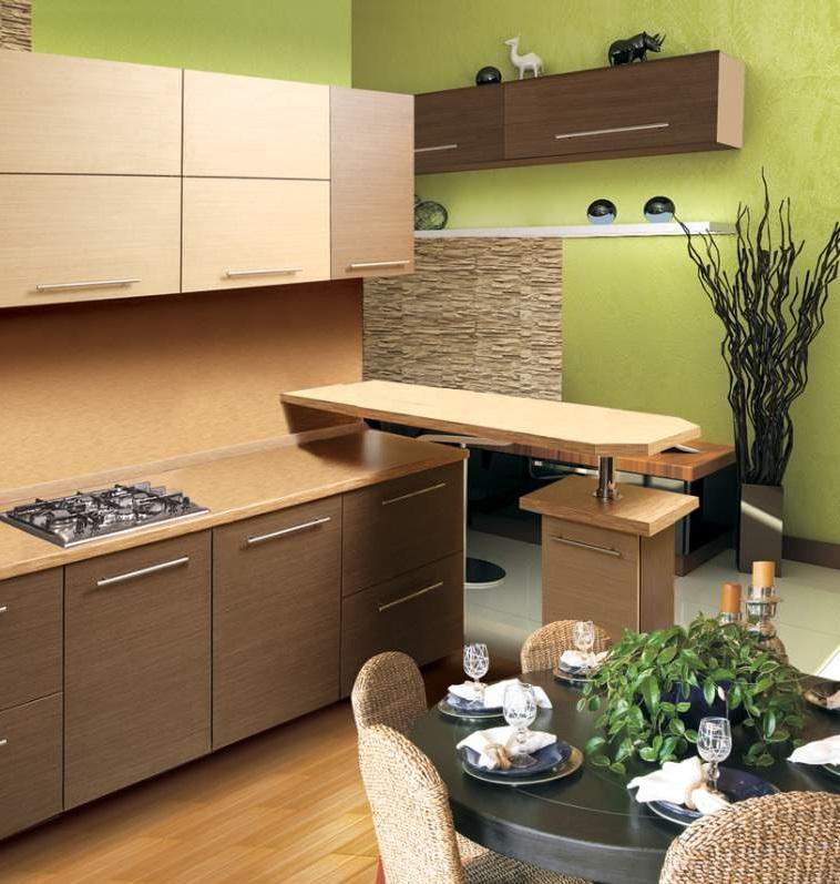 Красивый дизайн кухни в хрущевке: Блестящий дизайн кухни в хрущевке с газовой колонкой и без неё