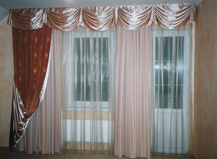 интерьер штор в зал фото