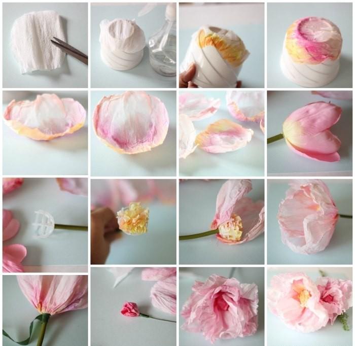 Как сделать цветы пионы своими руками