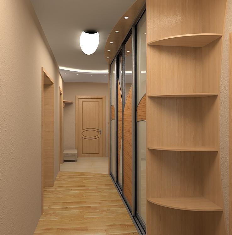 Большой коридор в квартире дизайн
