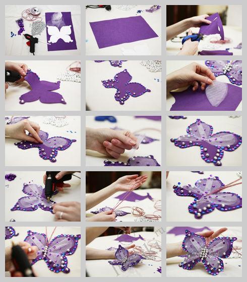 Бабочки для штор своими руками