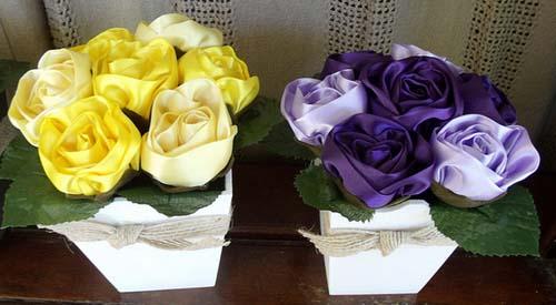 Букеты цветов из ткани своими руками