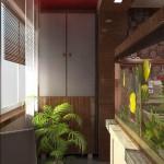 Дизайн балкона квартиры в панельном доме