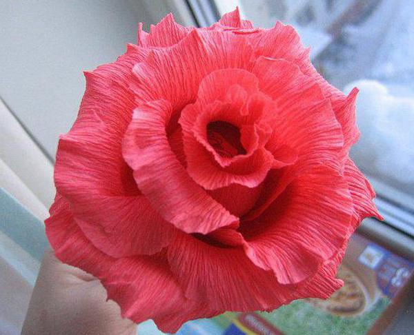 Бумажные цветы своими руками простые