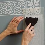 трафарет для росписи стен