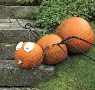Варианты оформления тыквы на Хэллоуин