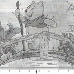 Вышитый ростомер - Винни-пух