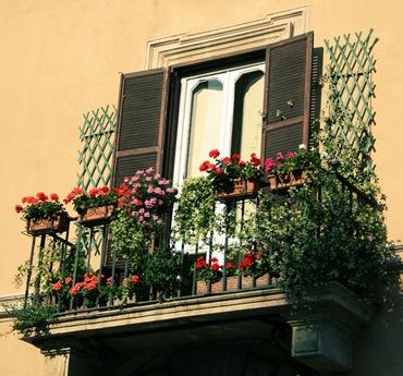 Красивый балкон цветы 10