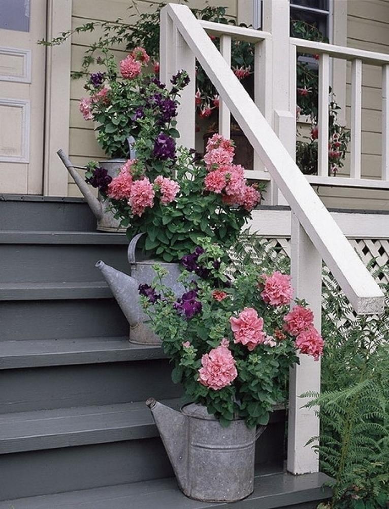 Оформление входа в дом (фото).