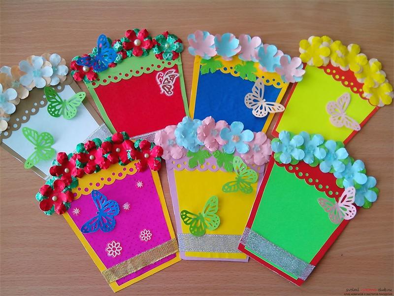Поделки из цветной бумаги  к дню матери 145