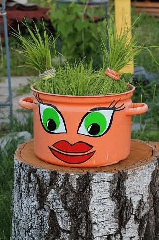 для огорода из кастрюль тазов своими руками