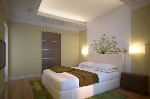 Современный светлый дизайн спальни