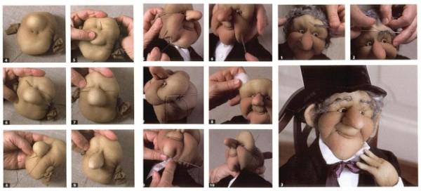 Процесс сборки куклы