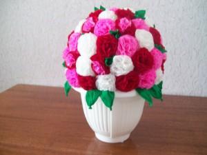 Букет цветов из салфеток