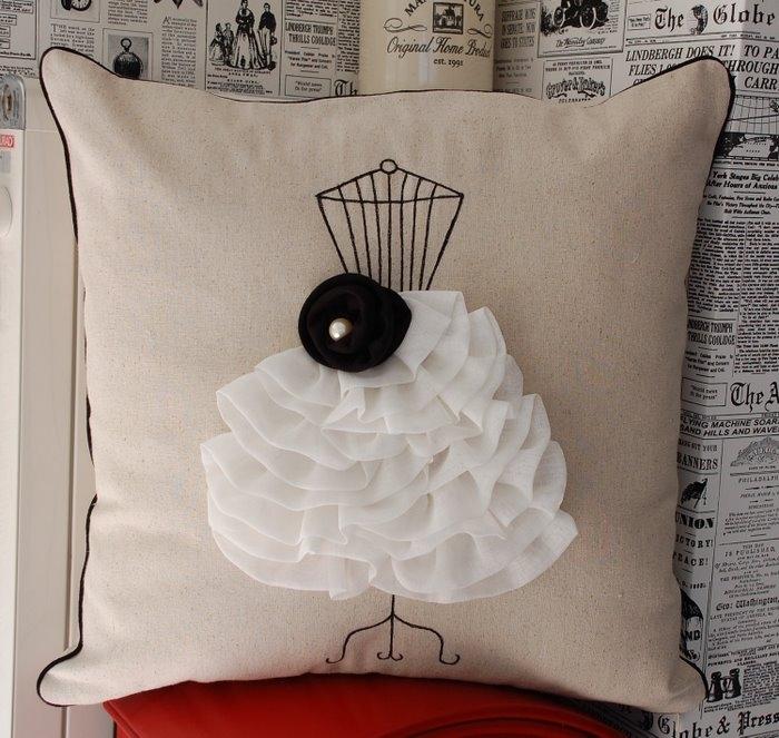 Как сшить подушку декор