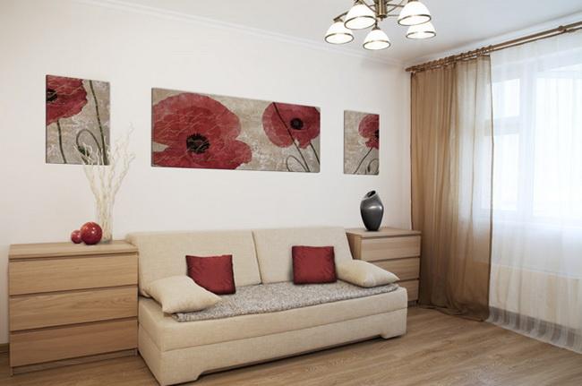Дизайн небольшой гостиной в хрущевке