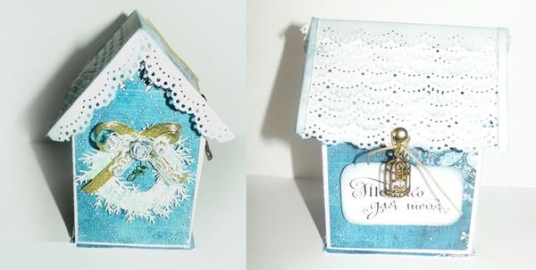Новогодний домик из бумаги готов