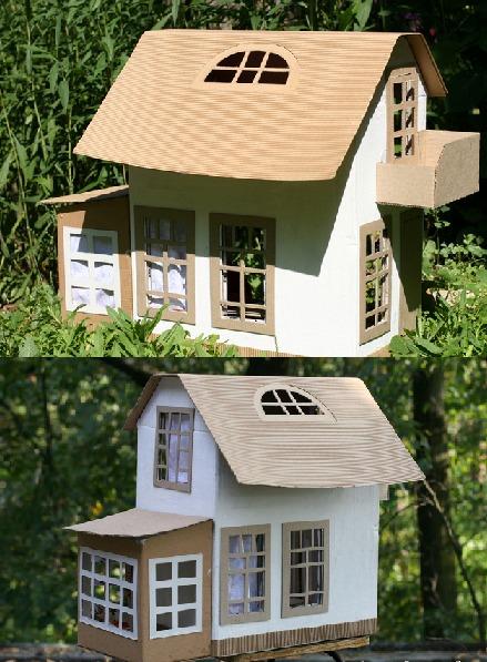 Кукольный домик из бумаги без оформления