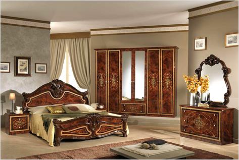 Спальня в классическом стиле в интерьере