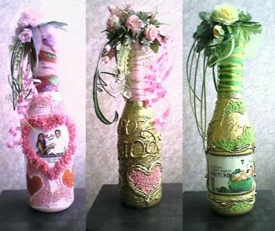 Бутылка в стиле цветов
