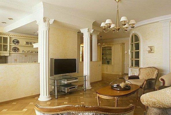 Гостиная в классическом стиле в интерьере