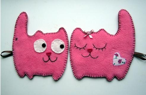 Двухслойные игрушки из фетра