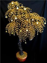 Денежное дерево своими руками из бисера мастер