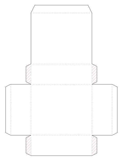 схему коробочки на бумагу.