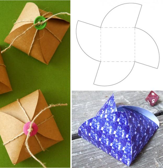 Как сделать коробочку из картона для подарков 94