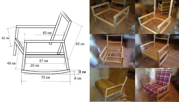Кресло качалка 6