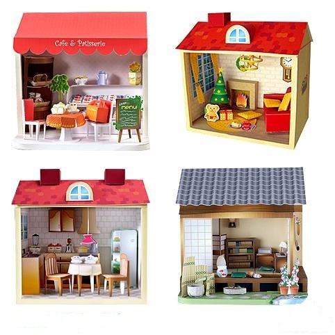 Кукольные домики из бумаги