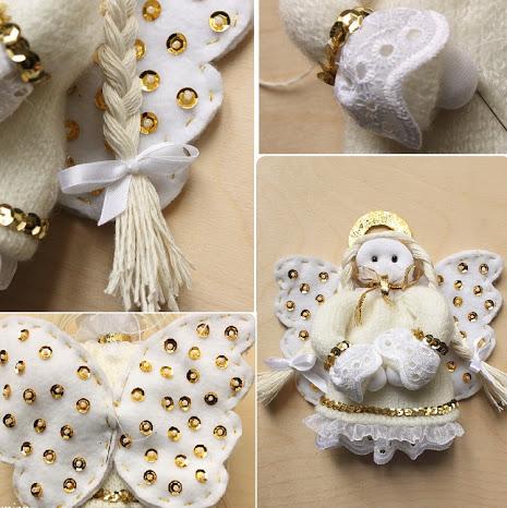 Сборка тряпичной куклы-ангела