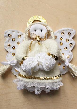 Тряпичная кукла-ангел