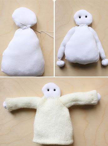 Заготовка тряпичной куклы-ангела