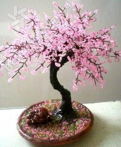 как сделать цветы из бисера своими ...